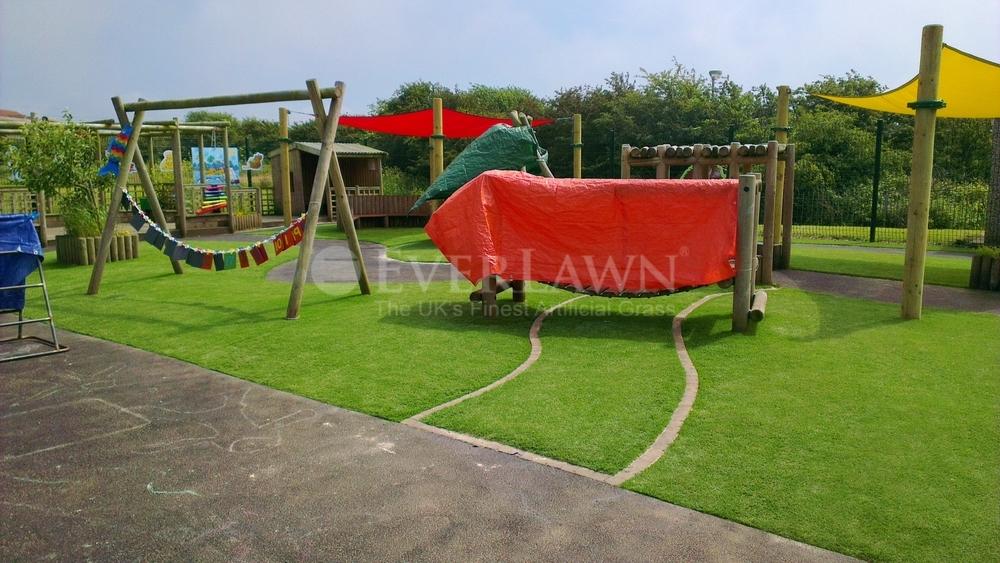 EverLawn Artificial Grass at Kincraig Primary School Bispham Lancashire